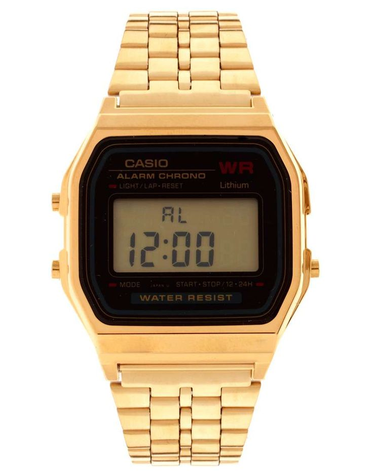 Casio A159WGEA-1EF Gold Digital Watch | gifts for her | womens watch | women jewelry | women fashion | womens style | wantering http://www.wantering.com...
