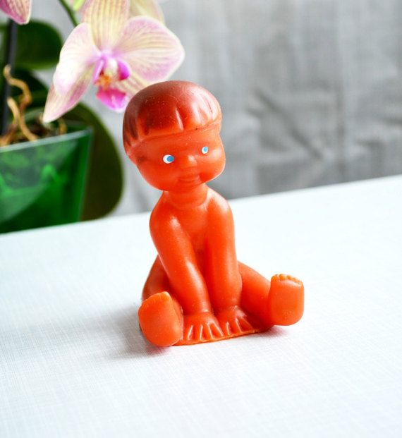 Soviet rubber toy Soviet vintage toy Old Russian doll by bestLuba