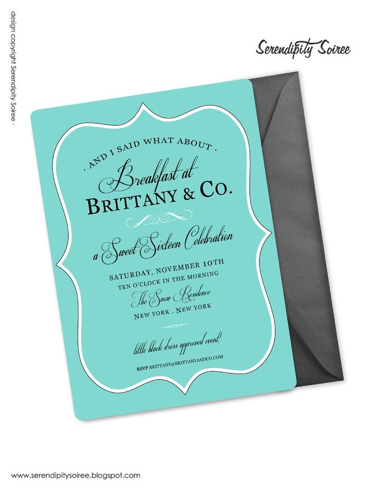 blank beach bridal shower invitations%0A Custom Printable Invitation  Breakfast at  Birthday  Bridal Shower  Sweet  Sixteen  Quinceanera