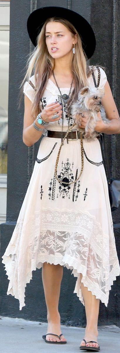 Boho Style: Amber Heard