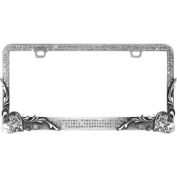 Image result for metal license plate frames