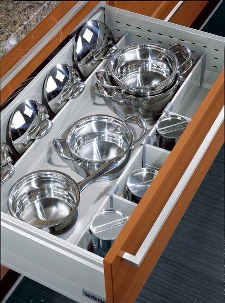 Bauformat kitchen cabinets drawer dividers for big items - Vertical tray dividers kitchen cabinets ...
