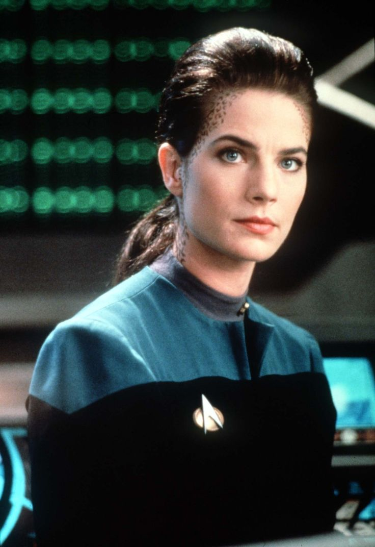 Jadzia Dax, irreverent, adorable science officer of DS9. Player by the beautiful Terry Farrell.