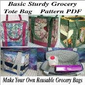 Basic Sturdy Grocery Tote Bag - via @Craftsy