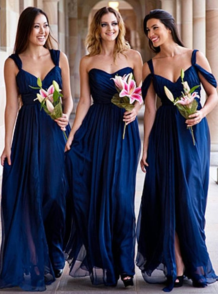 long bridesmaid dresses,cold shoulder dresses,royal blue bridesmaid dresses,chiffon bridesmaid dresses @simpledress2480