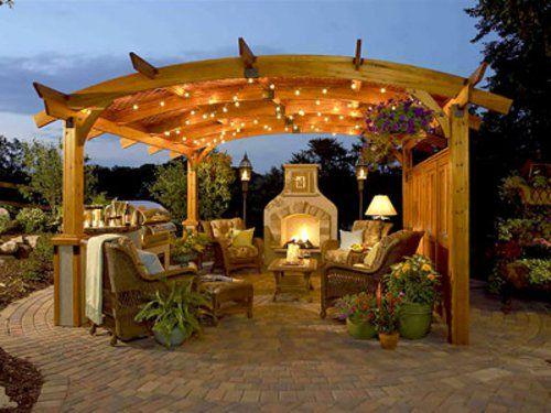 Outdoor Küche Mit Grill Feuerstelle überdachung