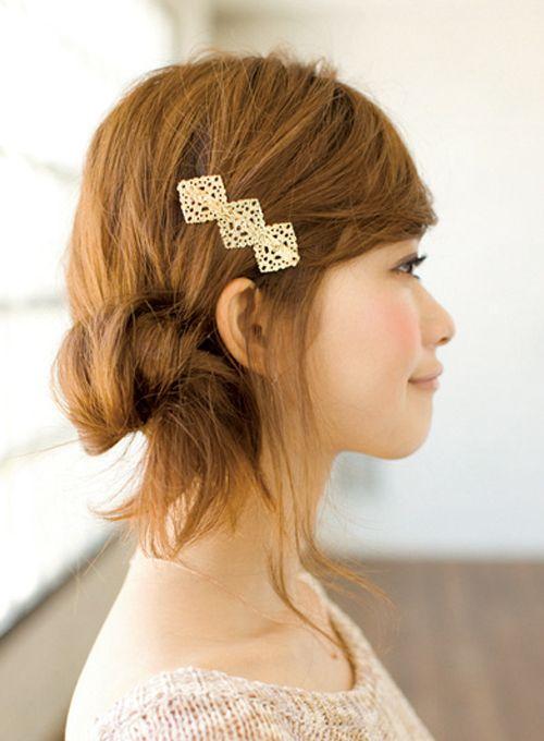 やさしげな雰囲気が魅力のルーズなサイドおだんご | 髪型 ヘアスタイル | with online on ウーマンエキサイト
