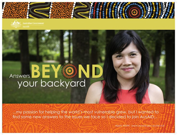 AusAID Beyond Your Backyard poster series