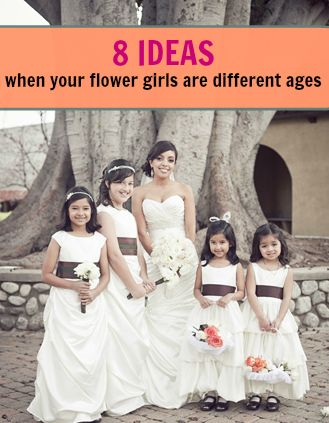 Brides, it might so happen that your flower girls will be different ages. While younger flower girls have that awww factor, older flower girls are bet