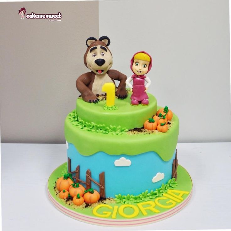 50 best masha cake images on Pinterest Bear cakes Masha and the