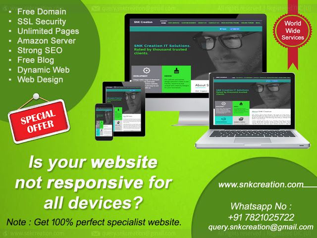 create a dynamic responsive website with unlimited...