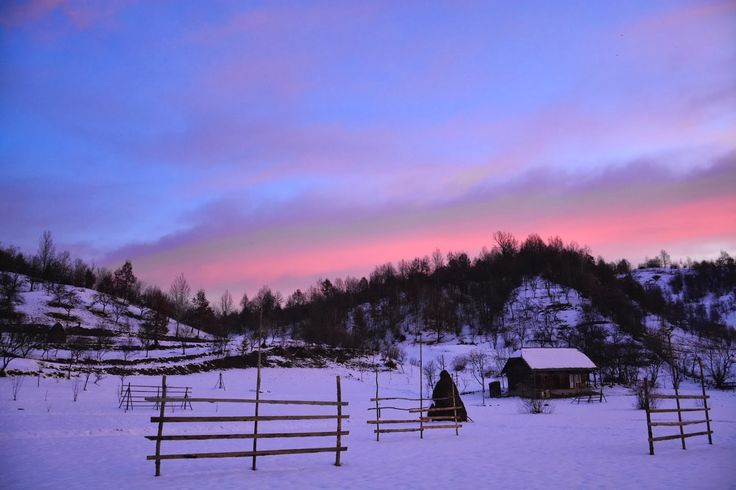 TUDOR PHOTO BLOG: Botiza-Rasarit de Soare Iarna,Winter Sunrise,Maramures,Romania,Europe