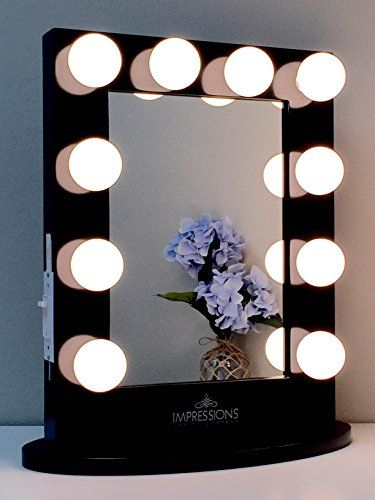 Countertop Vanity Makeup Mirrors with Lights LED Hollywood Glamour ...