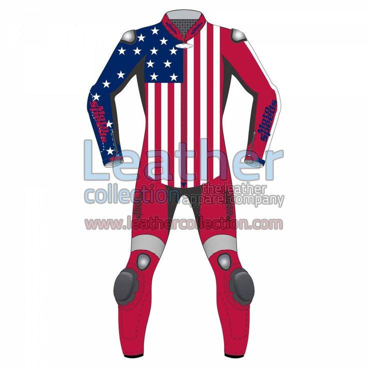 American Flagge Leder Motorradkombi for CHF 537.67 - https://www.leathercollection.com/de-ch/american-flagge-leder-motorradkombi.html