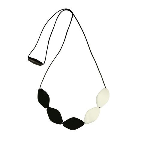 Teething Jewellery - Tulip Bead Necklace Black & White – Baby Luno