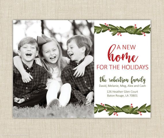Christmas card moving announcement we've by brownpaperstudios