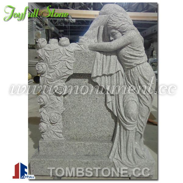 Granite angel tombstone, angel headstones for sale