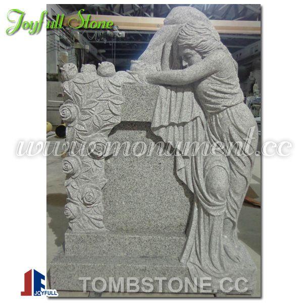 Granite angel tombstone, angel headstones for sale