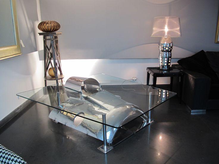 7 best images about table basse design avion on pinterest un engine and avion. Black Bedroom Furniture Sets. Home Design Ideas