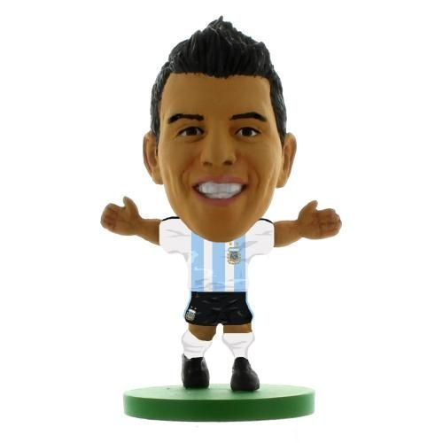 Argentina – Sergio Aguero – soccerstarz figure – 2 inches tall – with collectors card – in blister pack – official licensedMerchandise For All