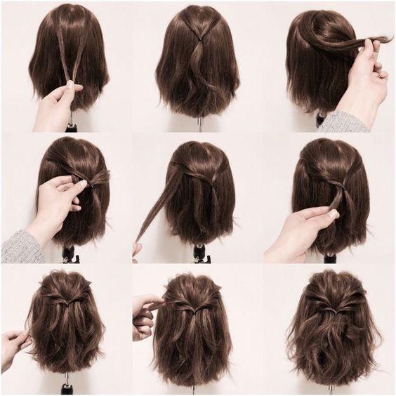 Favorit Les 25 meilleures idées de la catégorie Chignon cheveux mi long  AE55