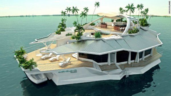Get ready to hit the waters on The Planet Beer ParTAY Boat!.....Who's coming? #Boats #YachtsFloating Islands, Dreams Vacations, Houseboats, Living Spaces, Vacations Spots, Solar Panels, Luxury Yachts, Private Islands, Amazing House
