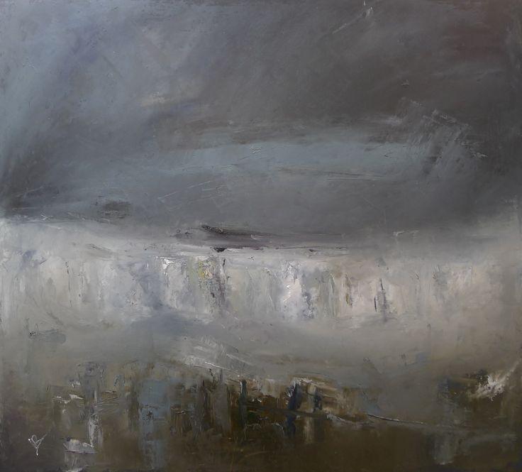 North Sea storm 60 x 70 cm Oil on board