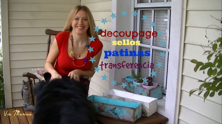 Como hacer decoupage, transferencia, sellos y patinas ♥ Marina Capano