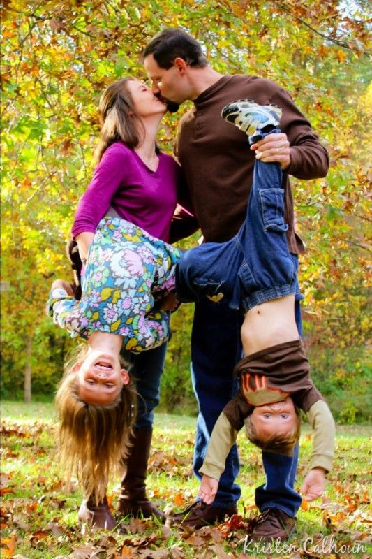 upside down greatness!  Funny Family portrait