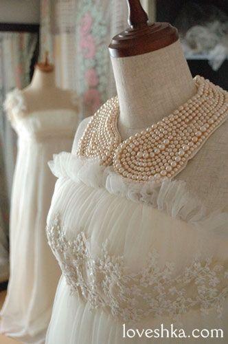 付け襟 / ネックレス / パール / レース / スワロフスキー / アクセサリー / 結婚式 / wedding / オリジナルウェディング / プティラブーシュカ / トキメクウェディング