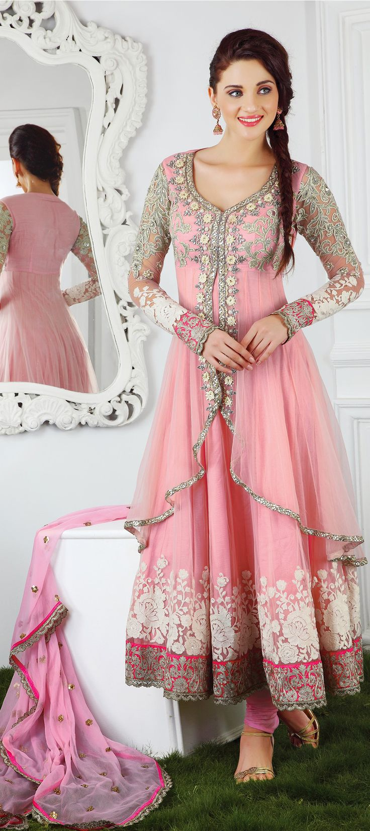 8,400 Cost includes Dress material for Kameez, Bottom & Dupatta. Worldwide Shipping is FREE (Guaranteed 2 Business days dispatch) Tentative Delivery By 12 Feb, 2015  400229: Pink and Majenta color family unstitched Party Wear Salwar Kameez.