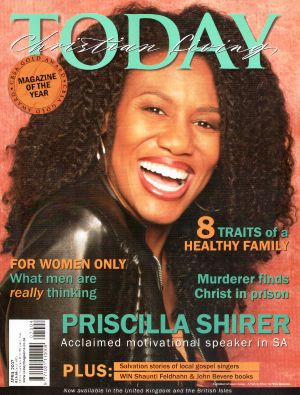 Cover story: Pricilla Shirer: Igniting a Passion for God – Christian Living Today, April 2007. http://beautyforashes.co.za/wp-content/uploads/2013/10/P-ShirerApr2007.pdf