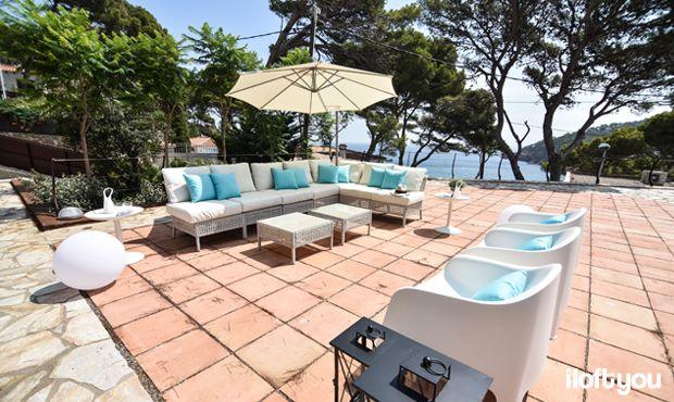 #proyectosariera #iloftyou #interiordesign #ikea #sariera #begur #girona #costabrava #lowcost #catalunya #zarahome #maisonsdumonde #faroiluminacion #navy #navystyle #marinero #estilomarinero #exterior #terraza #jardín #chillout