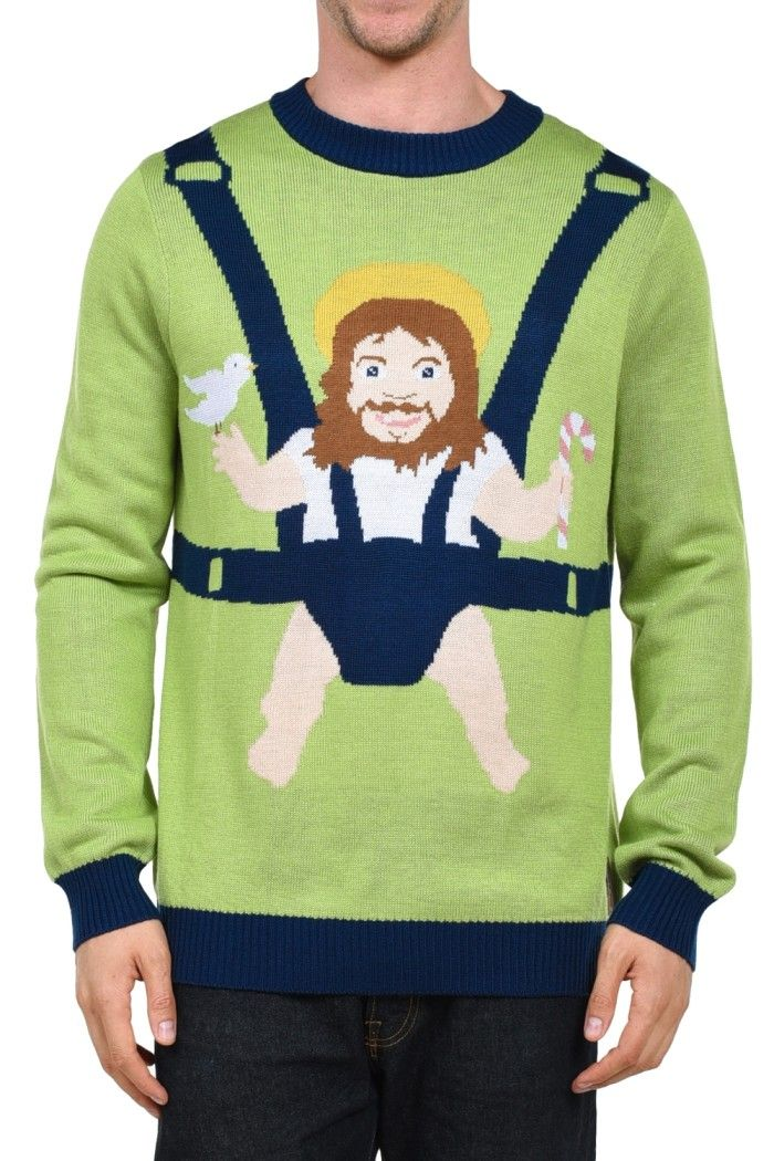Men's Baby Jesus Christmas Sweater | Tipsy Elves