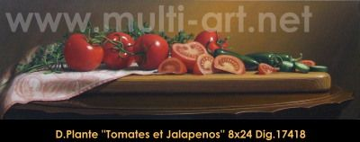 Original acrylic painting on canevas by Daniel Plante #danielplante #art #fineart #figurativeart #artist #canadianartist #quebecartist #tomatoes #stillife #hyperrealism #originalpainting #acrylicpainting #balcondart #multiartltee