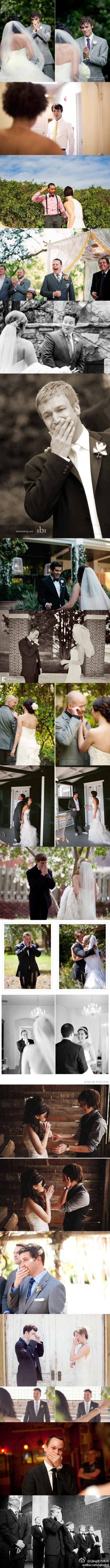 pictures of the groom's reaction. adorable.