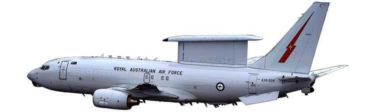 Royal Australian Air Force Boeing E-7A Wedgetail Airborne Early Warning & Control (AEW&C) aircraft.