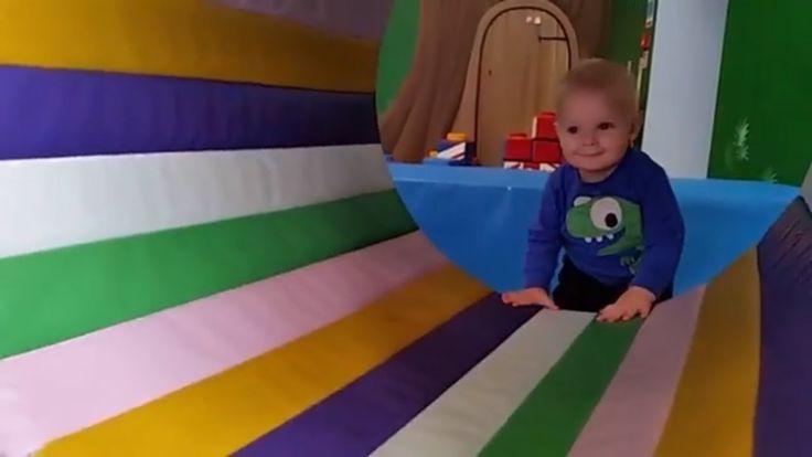Indoor play center fun: slides, ball pit. Riverside Hub Indoor playgroun...
