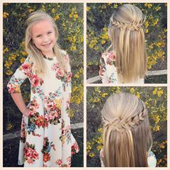 All ready for church this morning! We did a pretty half up style with braids!