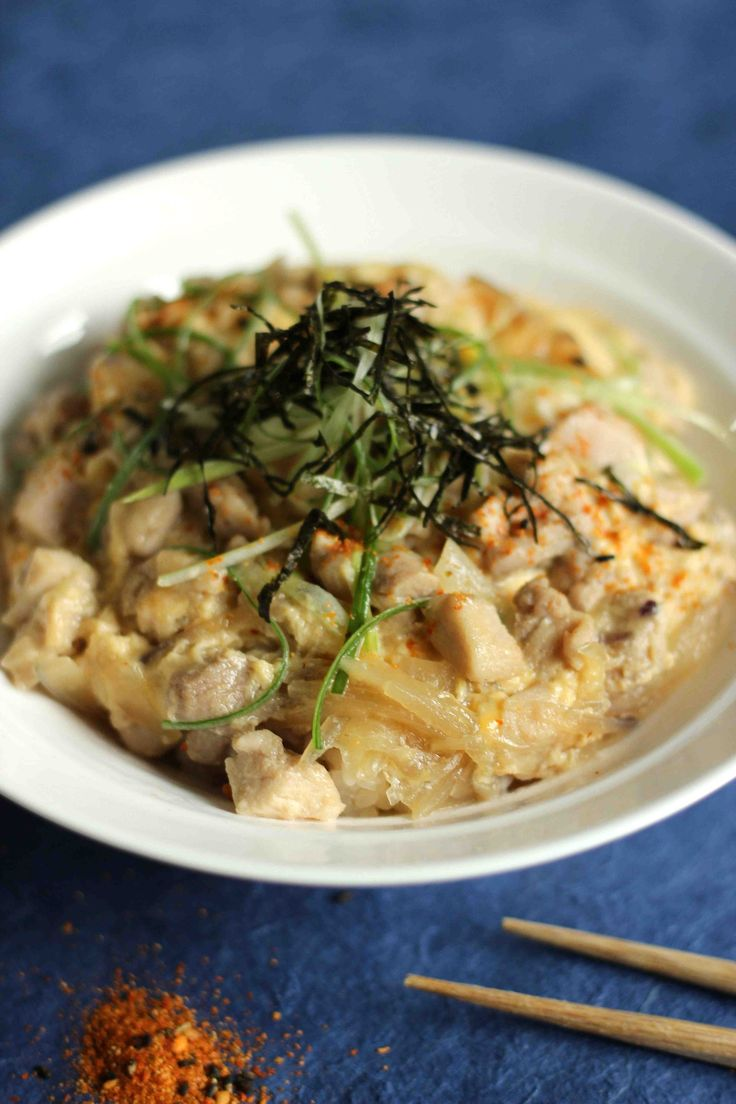 """Oyako Don"" : Japanese Chicken & Egg on Rice"