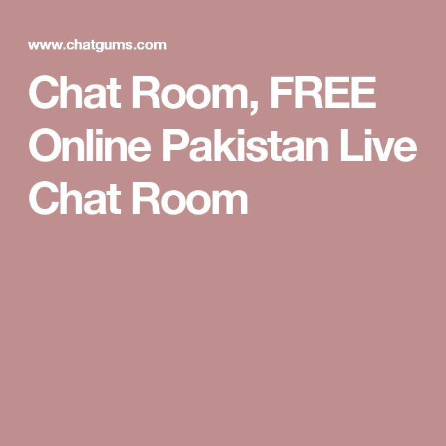 Chat Room, FREE Online Pakistan Live Chat Room