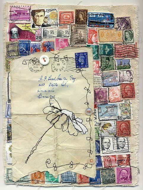 Best paper crafts postage stamps images on pinterest