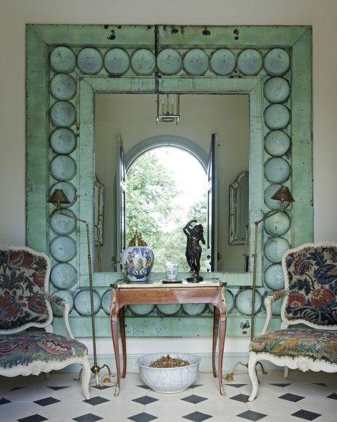 ...Decor, Ideas, Vintage Mirrors, Cottages Gardens, Home Interiors, Colors, Interiors Design, Design Home, Mirrors Mirrors