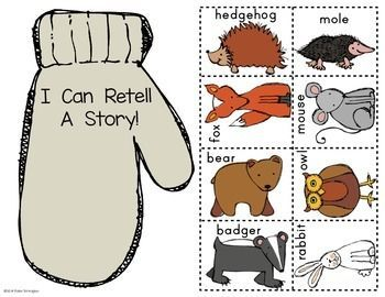 Paper Bag Retelling: The Mitten by Jan Brett by Class of Kinders | Teachers Pay Teachers