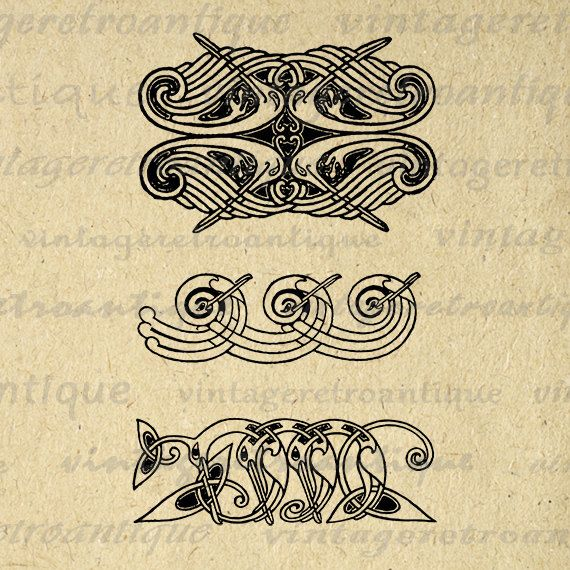 Printable Geometric Birds Graphic Digital Banner Header Download Ornament Design Image Antique Clip Art Jpg Png Eps 18x18 HQ 300dpi No.3834 @ vintageretroantique.etsy.com #DigitalArt #Printable #Art #VintageRetroAntique #Digital #Clipart #Download