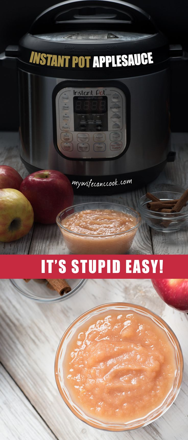 Instant Pot applesauce removes the work from making homemade applesauce without removing the flavor. No more stirring, no more milling, let the Instant Pot do the work and enjoy the results. You've got questions, we've got answers. Click through and we'll answer all your Instant Pot applesauce questions.