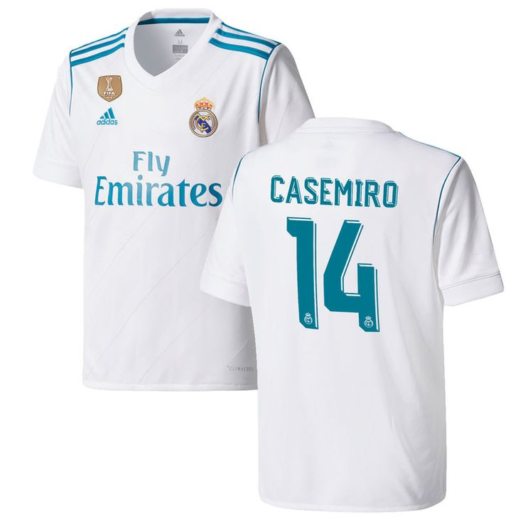 Casemiro Real Madrid adidas Youth 2017/18 Home Replica Patch Jersey - White