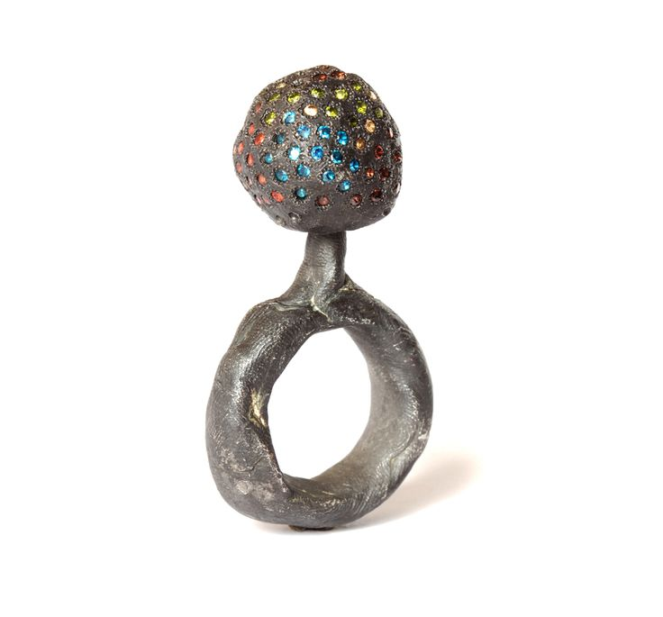 """""""Untitled Revisited"""" by Karl Fritsch 2015. .Silver, cubic zirconia."""