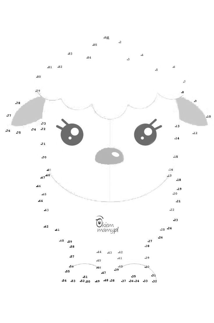 Szablon do druku połącz kropki dla dzieci