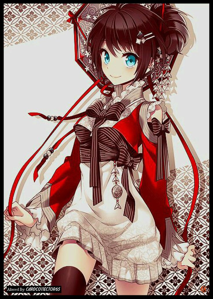 Anime ribbon girl mtg sleeves trading card sleeve